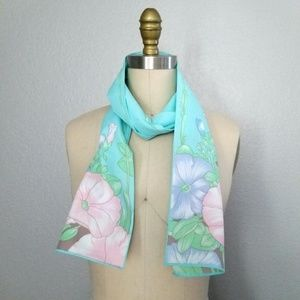 Vintage scarf floral ascot hairtie